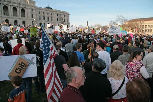 Tea Party In Saint Paul, Minnesota